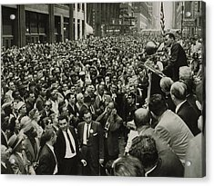Harry Belafonte B. 1927 Speaking At An Acrylic Print by Everett
