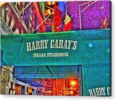 Harry Caray's Acrylic Print by Barry R Jones Jr
