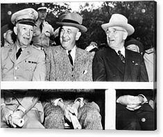 Harry Truman Observing The First Armed Acrylic Print by Everett