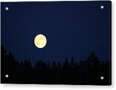 Harvest Moon Acrylic Print by Jerry Cahill