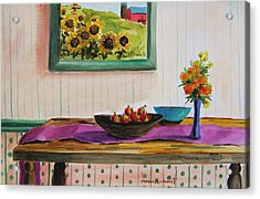 Harvest Table Acrylic Print by John Williams