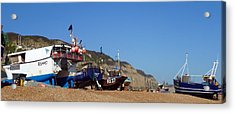 Hastings Fishing Fleet Acrylic Print by Sharon Lisa Clarke