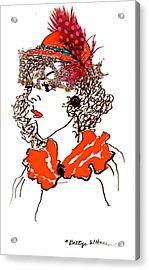 Hat Lady 7 Acrylic Print by Bettye  Harwell