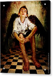 Acrylic Print featuring the photograph Hathaway Angel by Nada Meeks