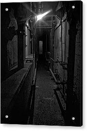 Haunted 1946 Battle Of Alcatraz Death Chamber Acrylic Print by Daniel Hagerman