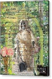 Haunted Garden Retreat Acrylic Print by Ruby Cross