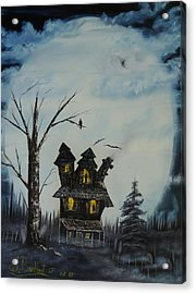 Haunted House 2007 Acrylic Print by Shawna Burkhart