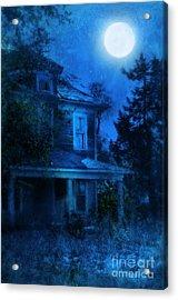 Haunted House Full Moon Acrylic Print