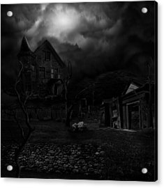 Haunted House II Acrylic Print by Lisa Evans