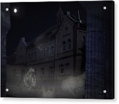 Haunted House Acrylic Print by Nafets Nuarb