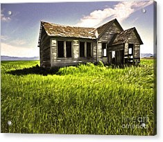 Haunted Shack In Idaho Acrylic Print by Gregory Dyer