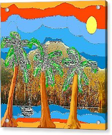 Acrylic Print featuring the digital art Havana Sunset by Rc Rcd