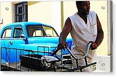 Havana Transportation Acrylic Print by Kimberley Bennett