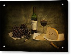 Have A Glass Of Red Acrylic Print by Yelena Rozov