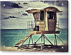 Acrylic Print featuring the photograph Hawaii Life Guard Tower 1 by Jim Albritton