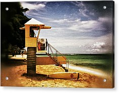 Acrylic Print featuring the photograph Hawaii Lifeguard Tower 2 by Jim Albritton