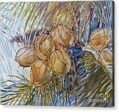 Acrylic Print featuring the painting Hawaiian Cluster by Louise Peardon