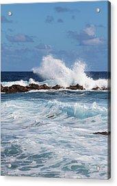 Hawaiian Shore Break  Acrylic Print by Kerri Ligatich