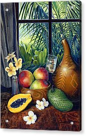 Hawaiian Still Life Acrylic Print by Anne Wertheim
