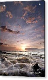 Hawaiian Sunset South Maui Acrylic Print by Dustin K Ryan