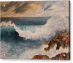 Acrylic Print featuring the painting Hawaiian Wave by Kerri Ligatich