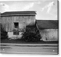 Hay Lofted Barn Acrylic Print by Jan W Faul