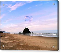 Haystack Bubble Acrylic Print by Wendy McKennon