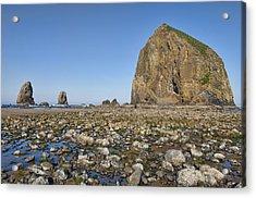 Haystack Rock 2 Acrylic Print by Mauro Celotti