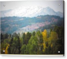 Acrylic Print featuring the photograph Haze Of Yellowstone by Shawn Hughes