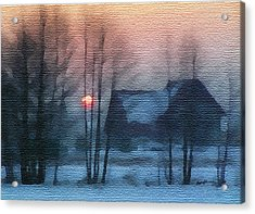 Hazy Winter Morning Acrylic Print by Anthony Caruso