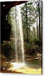 Hcking Hills Waterfall Acrylic Print by Inga Smith