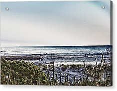 Hdr Boat Boats Beach Beaches Ocean Sea Photos Pictures Photography Photo Oceanview Seaview Picture Acrylic Print by Pictures HDR