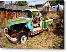 Hdr Old Truck Acrylic Print by Joe Myeress