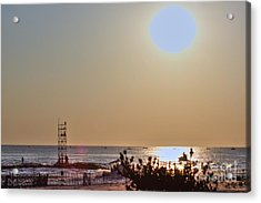 Hdr Seascape Oceanview Beach Beaches Summer Photos Pictures Photography Photo Pics Sea New Picture  Acrylic Print by Pictures HDR