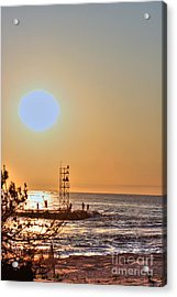 Hdr Seaview Oceanview Beach Beaches Ocean Sea Photos Pictures Photography Photo Pics Pictures Summer Acrylic Print by Pictures HDR