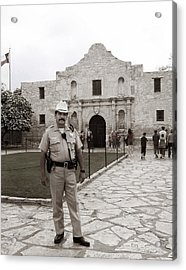 He Guards The Alamo Acrylic Print