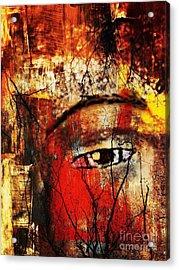 He Is Watching Acrylic Print by Fania Simon