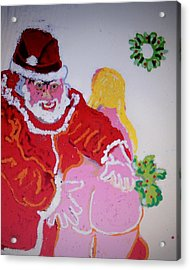 He Knows Who Is Naughty Or Nice Acrylic Print