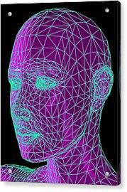 Head Contour Map, Art Acrylic Print by Laguna Design