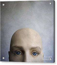 Head Of A Dummy. Acrylic Print by Bernard Jaubert