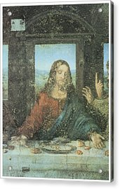 Head Of Christ Detail From The Last Supper Acrylic Print by Leonardo Da Vinci