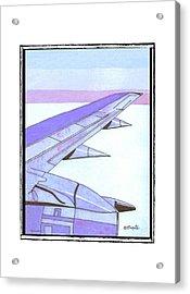 Headed Somewhere In Flight Acrylic Print by Robert Boyette