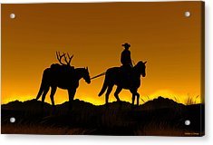 Acrylic Print featuring the digital art Heading Home by Walter Colvin