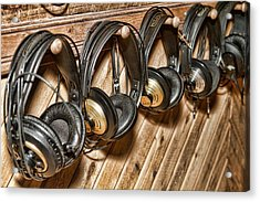 Headphones Acrylic Print by Kim Wilson