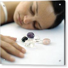 Healing Crystals Acrylic Print