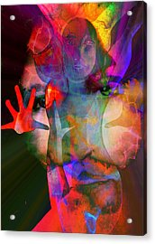 Healing Magdalene Acrylic Print by Susan  Solak