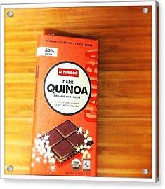 Healthy Dark #chocolate With Quinoa Acrylic Print