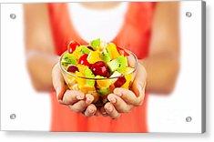 Healthy Fruit Salad Acrylic Print by Anna Om