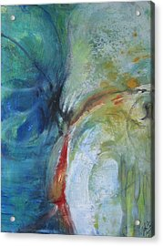 Acrylic Print featuring the painting Hearing Things by John Fish