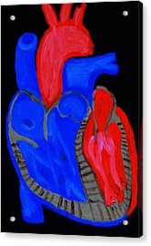 Acrylic Print featuring the painting Heart A Glow by Lisa Brandel